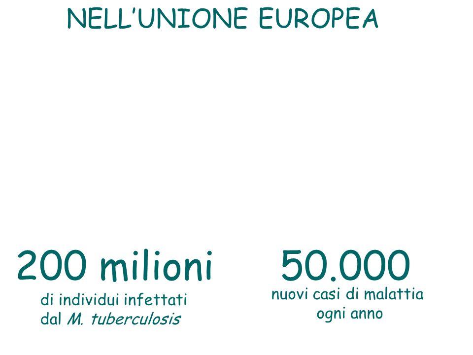 200 milioni 50.000 NELL'UNIONE EUROPEA nuovi casi di malattia
