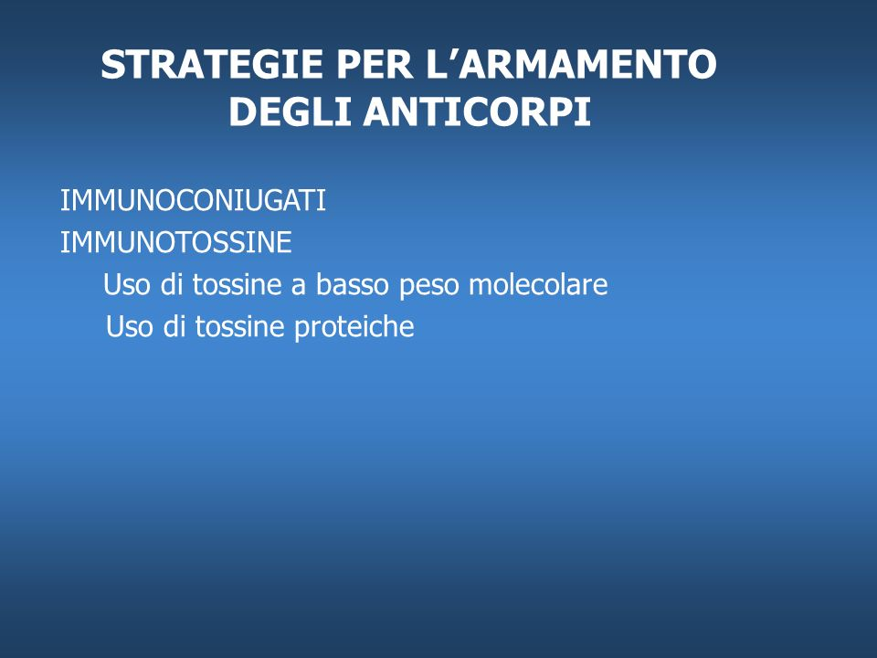 STRATEGIE PER L'ARMAMENTO