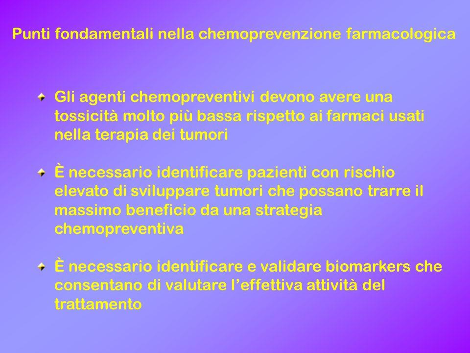 Punti fondamentali nella chemoprevenzione farmacologica