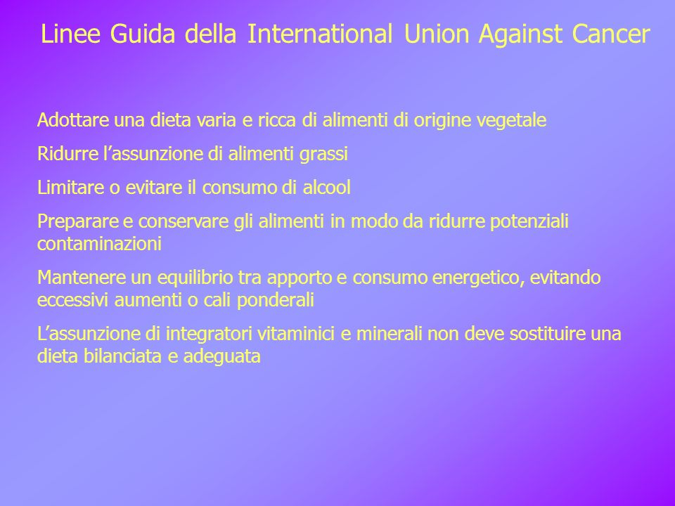 Linee Guida della International Union Against Cancer