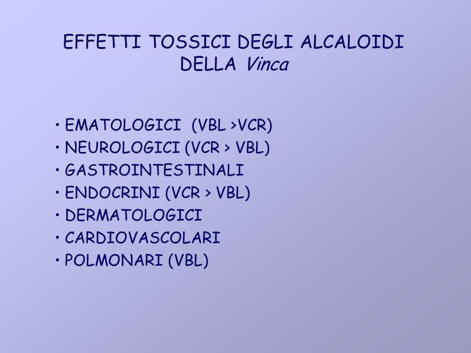 EFFETTI TOSSICI DEGLI ALCALOIDI DELLA Vinca