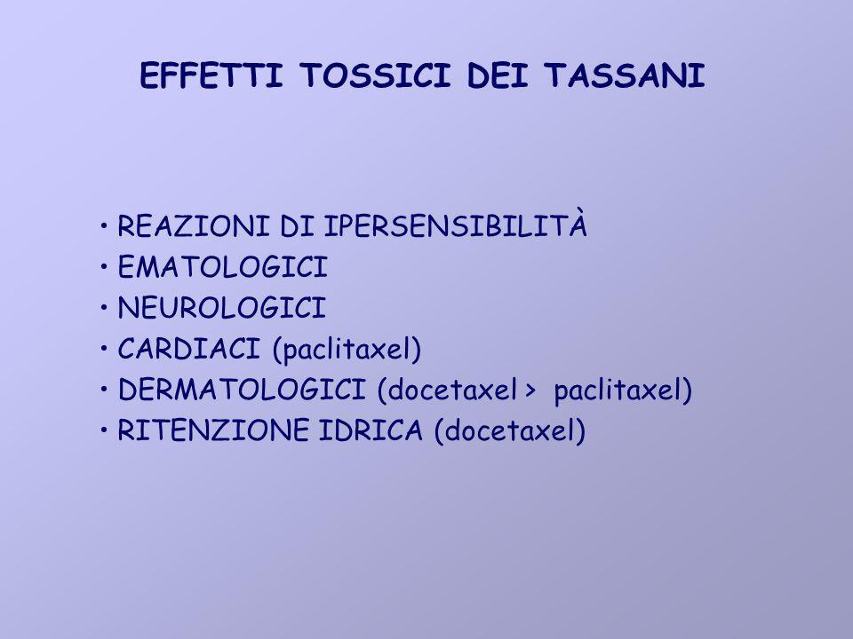 EFFETTI TOSSICI DEI TASSANI