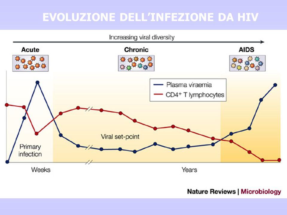 EVOLUZIONE DELL'INFEZIONE DA HIV