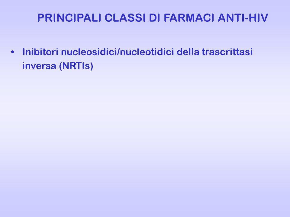 PRINCIPALI CLASSI DI FARMACI ANTI-HIV