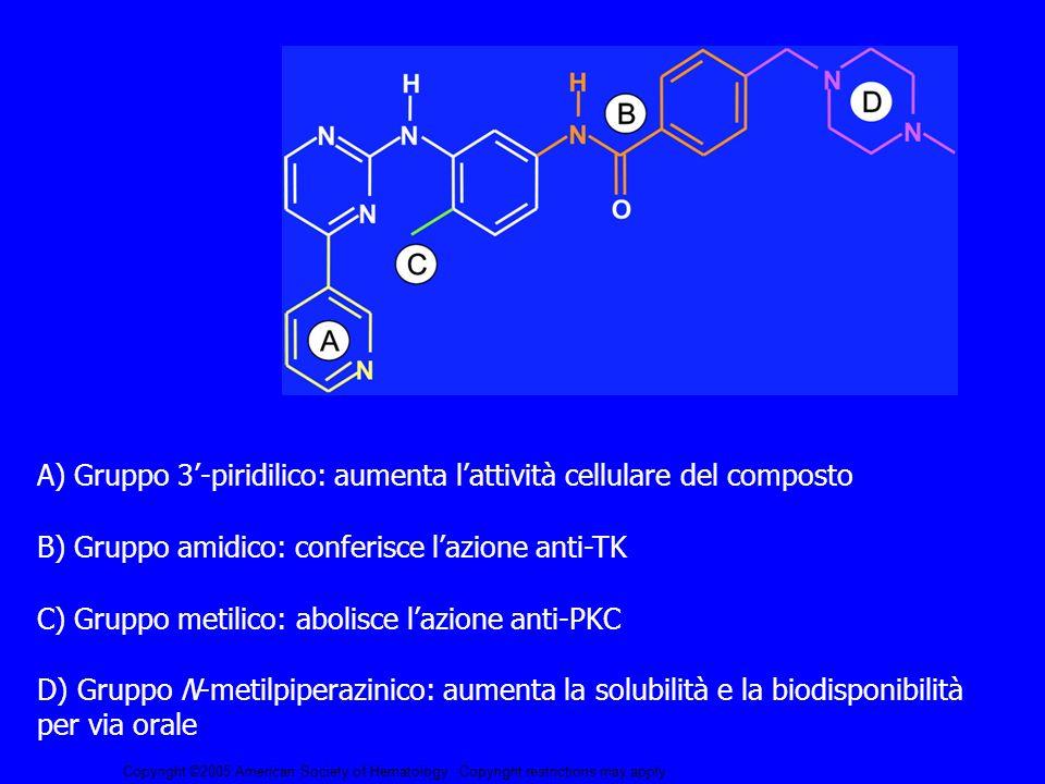 A) Gruppo 3'-piridilico: aumenta l'attività cellulare del composto