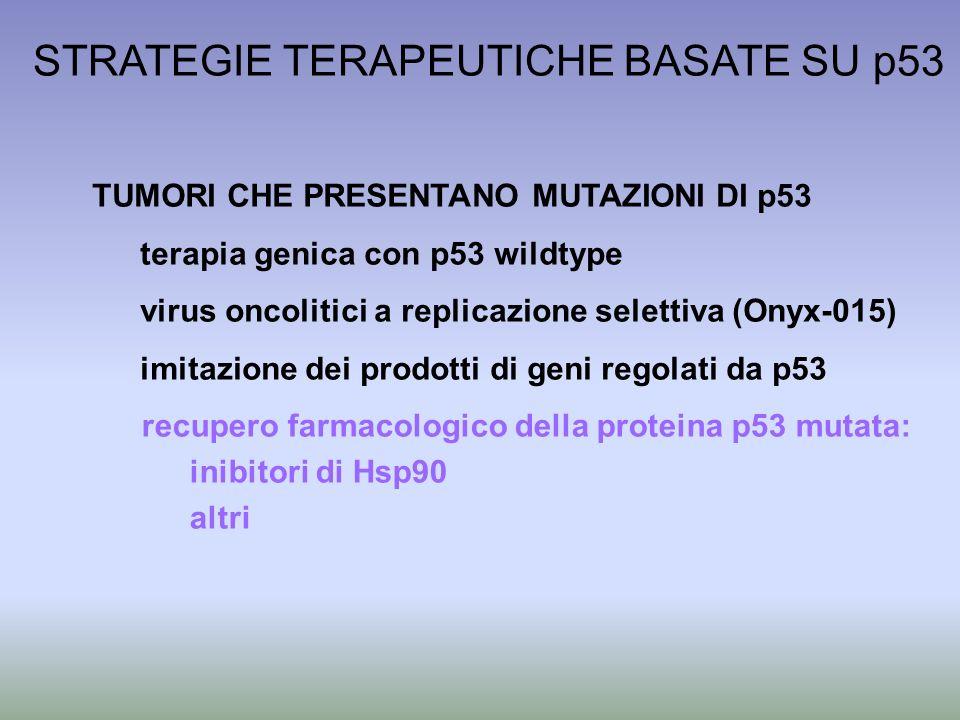 STRATEGIE TERAPEUTICHE BASATE SU p53