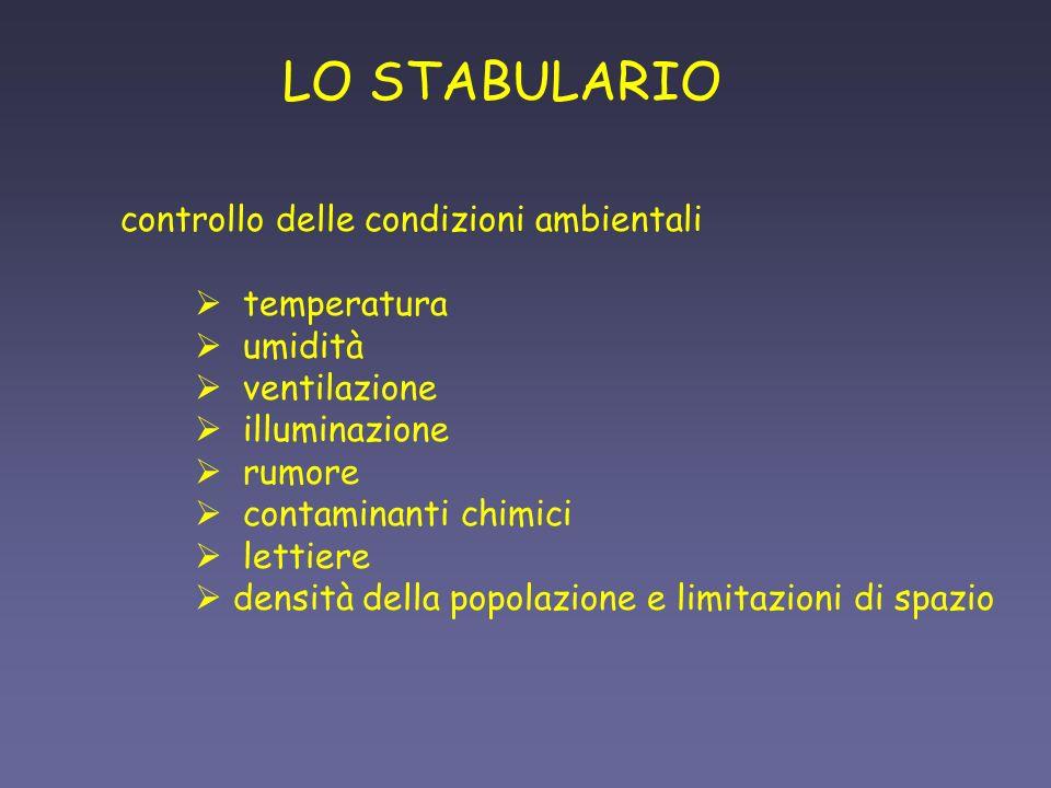 LO STABULARIO controllo delle condizioni ambientali temperatura