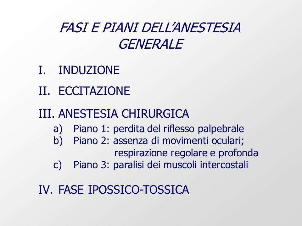 FASI E PIANI DELL'ANESTESIA GENERALE