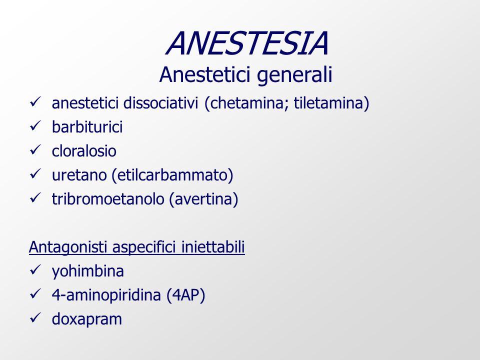 ANESTESIA Anestetici generali
