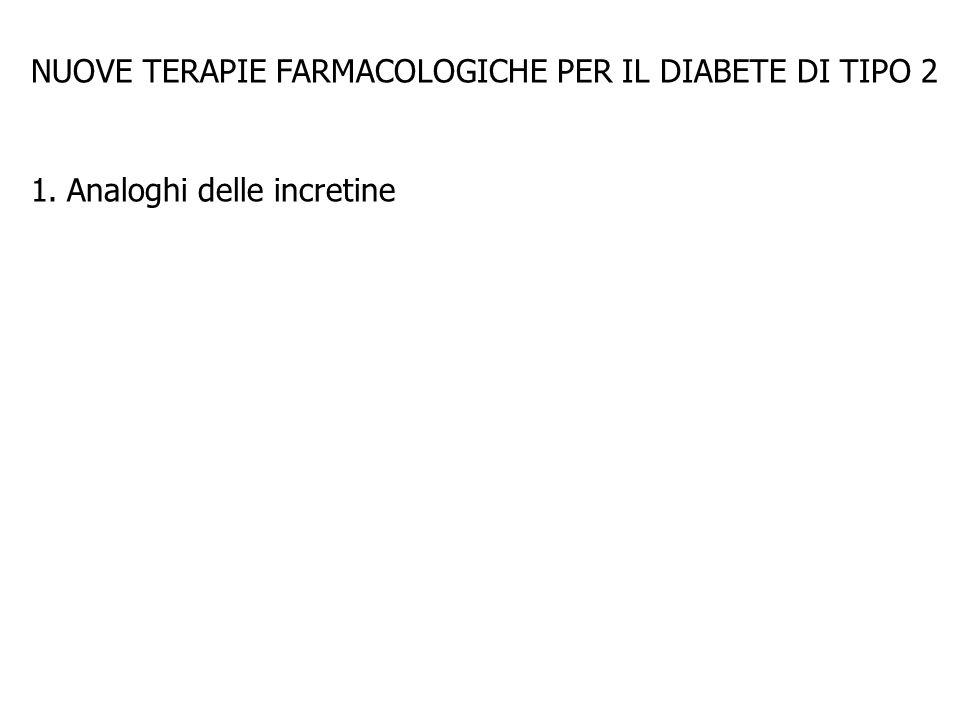 NUOVE TERAPIE FARMACOLOGICHE PER IL DIABETE DI TIPO 2