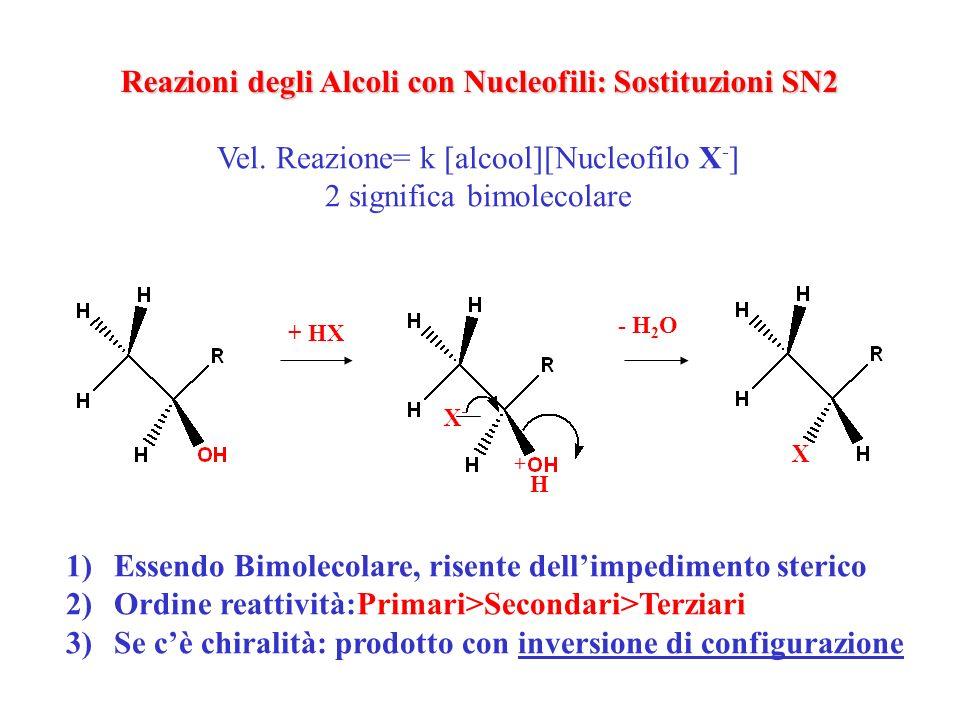 Reazioni degli Alcoli con Nucleofili: Sostituzioni SN2