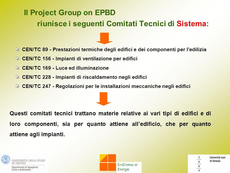 riunisce i seguenti Comitati Tecnici di Sistema: