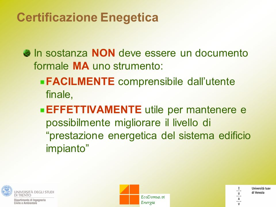 Certificazione Enegetica