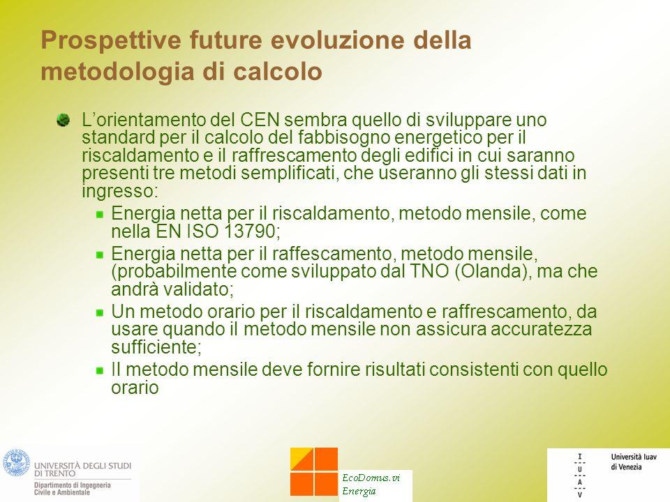 Prospettive future evoluzione della metodologia di calcolo