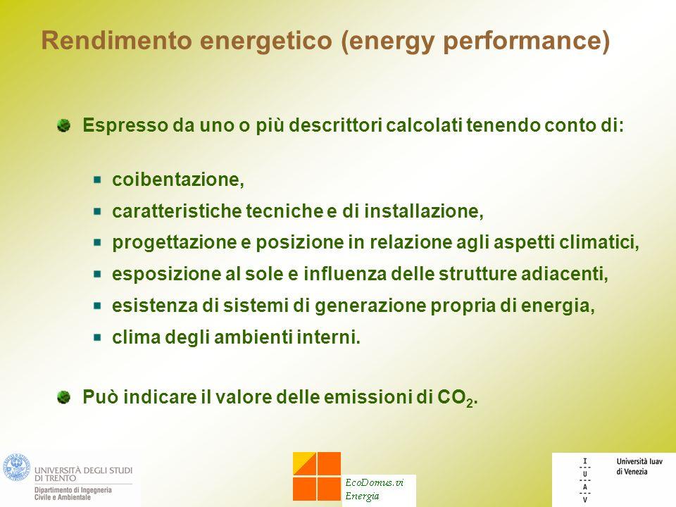 Rendimento energetico (energy performance)