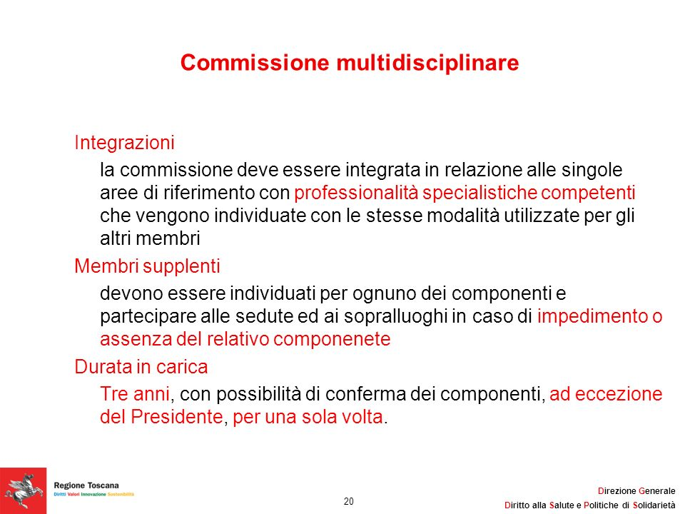Commissione multidisciplinare