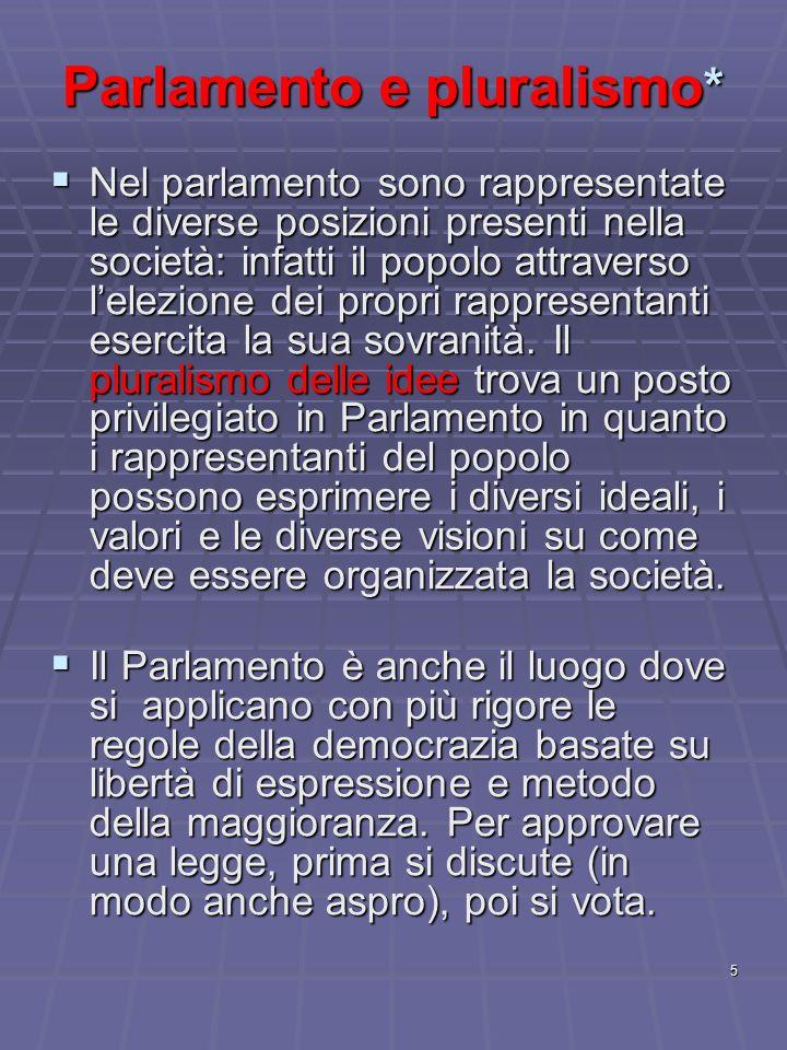 Parlamento e pluralismo*