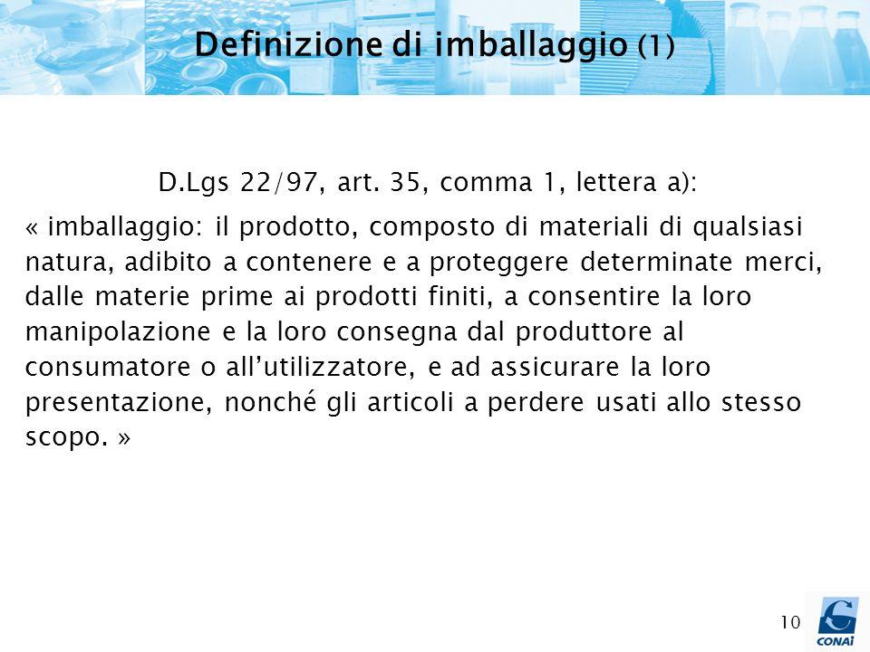 Definizione di imballaggio (1)