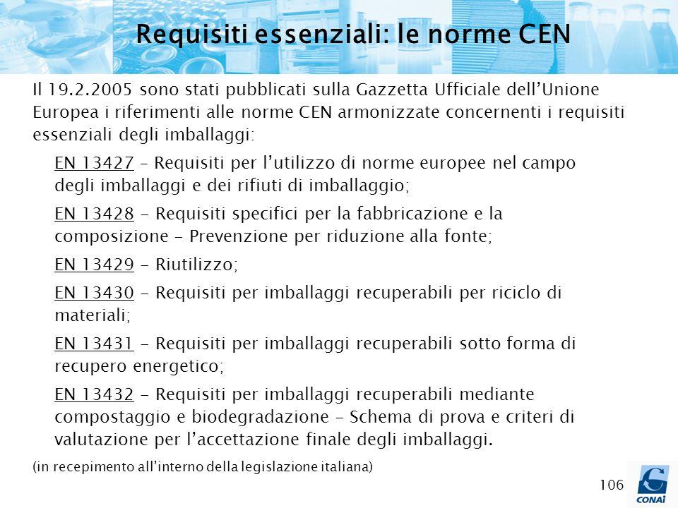 Requisiti essenziali: le norme CEN