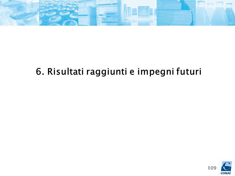6. Risultati raggiunti e impegni futuri