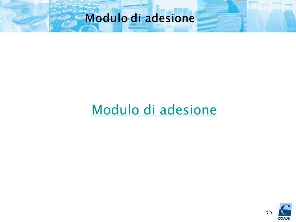 Modulo di adesione Modulo di adesione