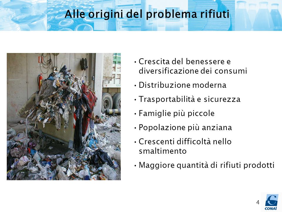 Alle origini del problema rifiuti