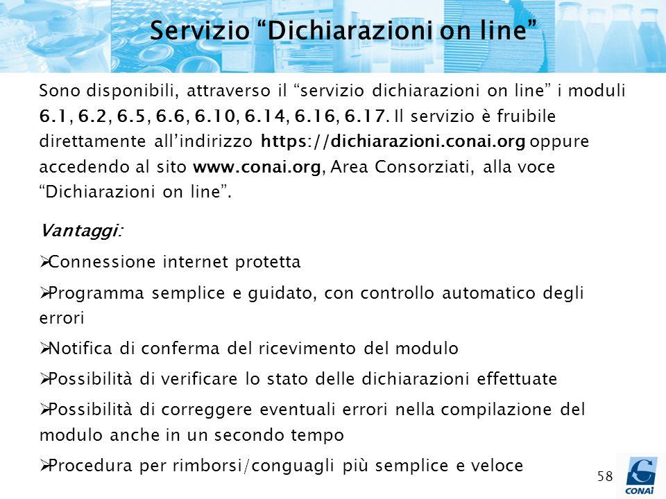 Servizio Dichiarazioni on line