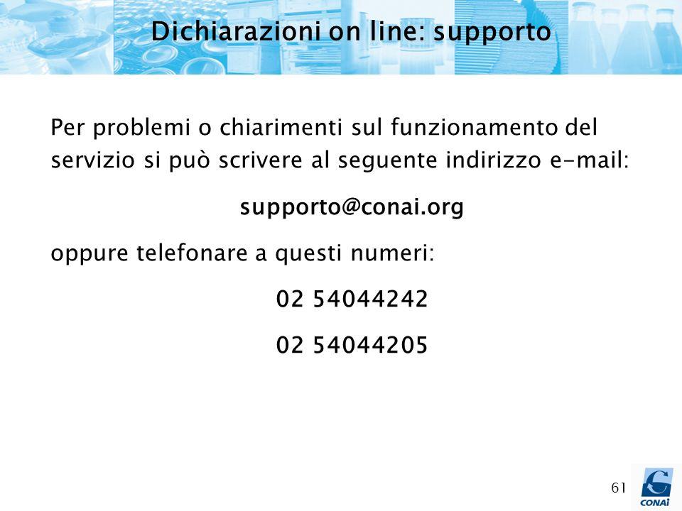 Dichiarazioni on line: supporto
