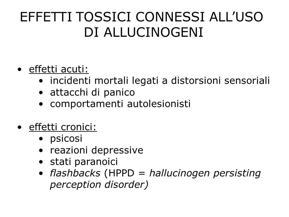 EFFETTI TOSSICI CONNESSI ALL'USO