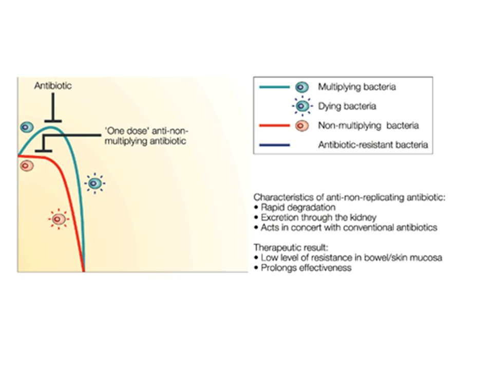 Figure 7 | Killing non-multiplying bacteria with one-dose therapy