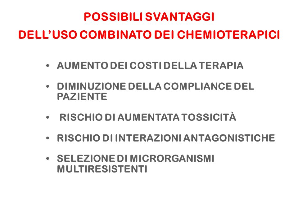 DELL'USO COMBINATO DEI CHEMIOTERAPICI