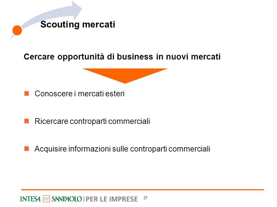 Scouting mercati Cercare opportunità di business in nuovi mercati