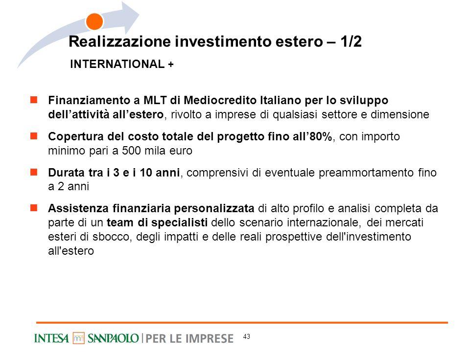 Realizzazione investimento estero – 1/2