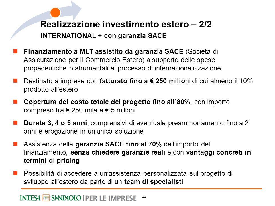 Realizzazione investimento estero – 2/2