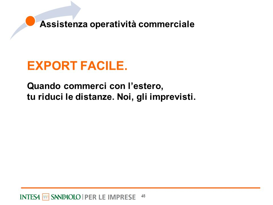 EXPORT FACILE. Assistenza operatività commerciale