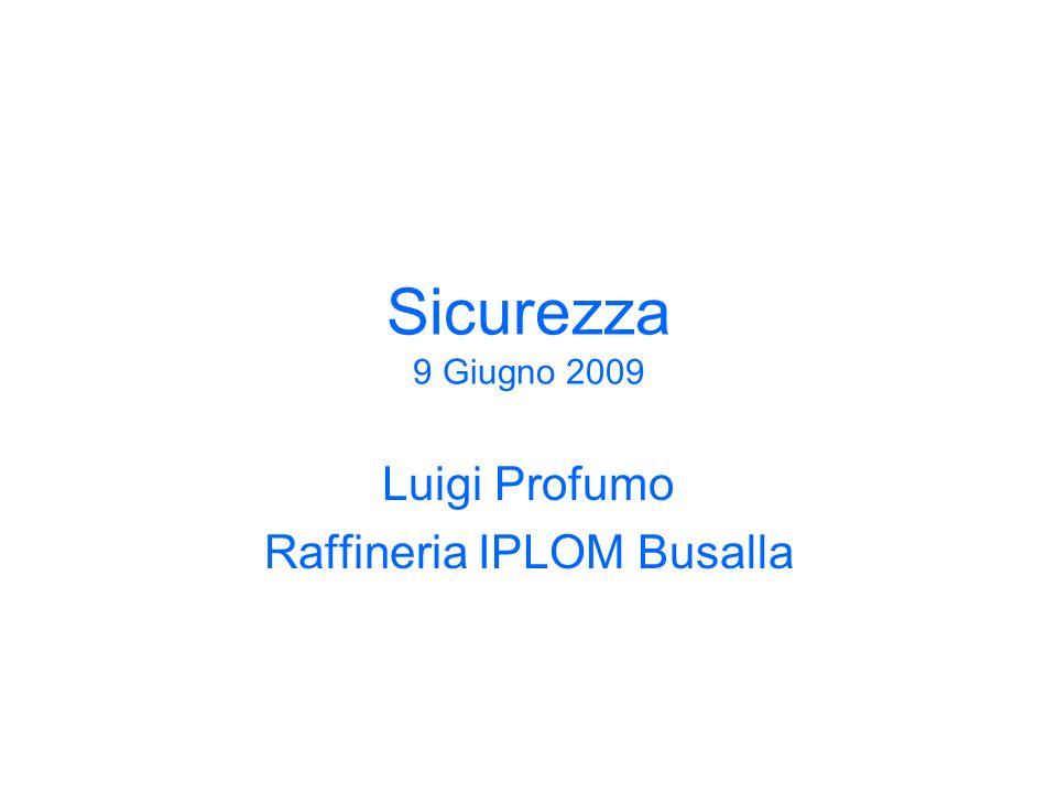 Luigi Profumo Raffineria IPLOM Busalla