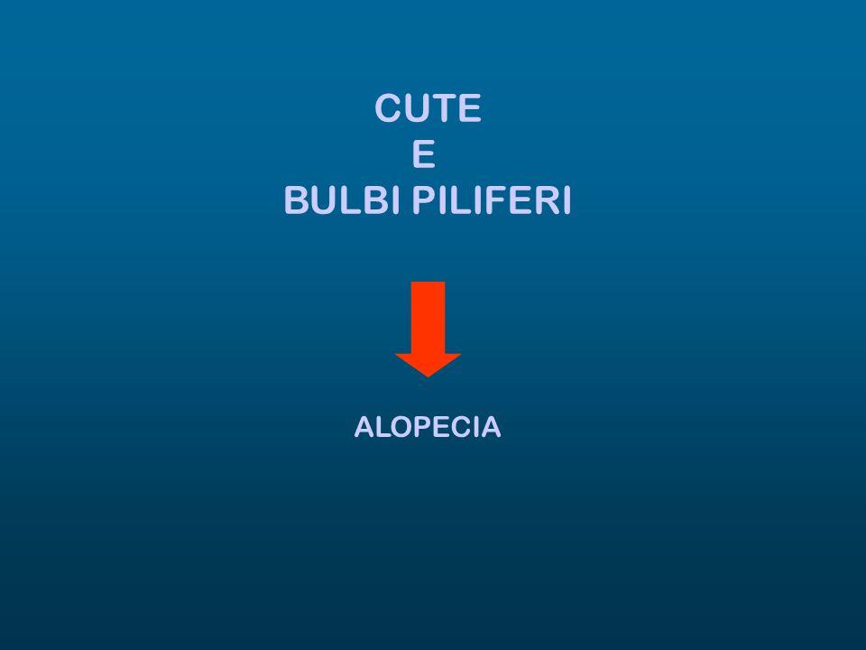 CUTE E BULBI PILIFERI ALOPECIA