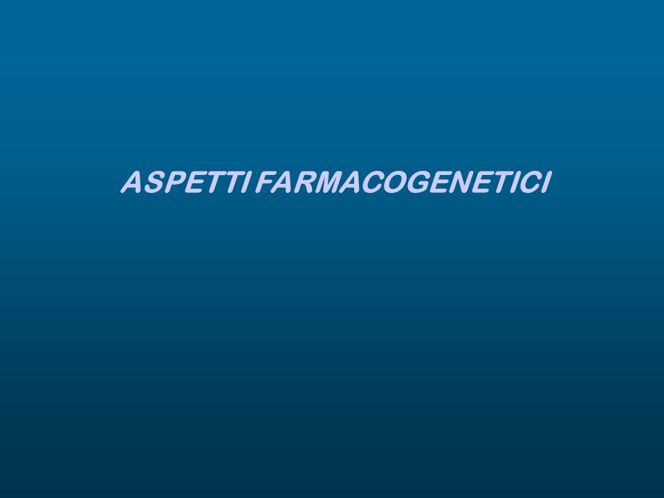 ASPETTI FARMACOGENETICI