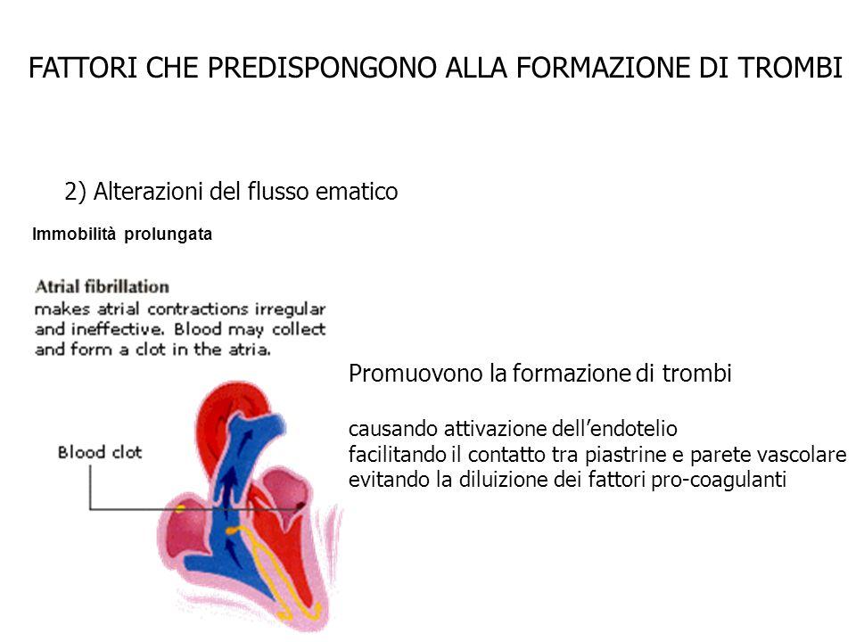 FATTORI CHE PREDISPONGONO ALLA FORMAZIONE DI TROMBI