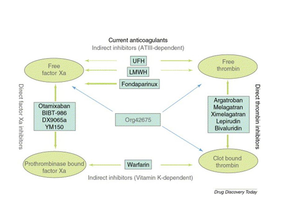 Current repertoire of clinically evaluated anticoagulants
