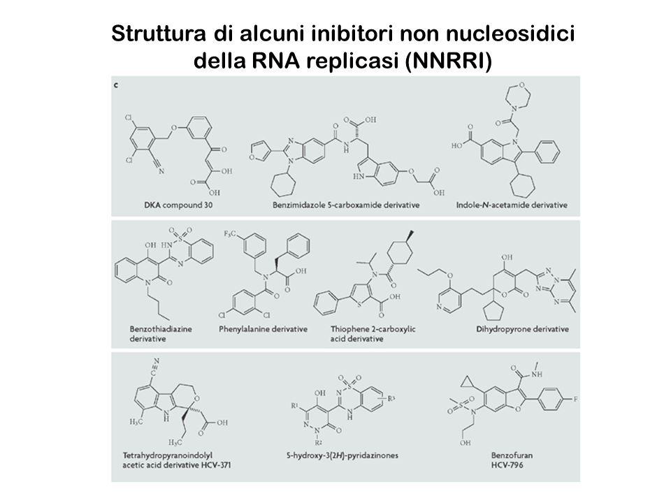 Struttura di alcuni inibitori non nucleosidici