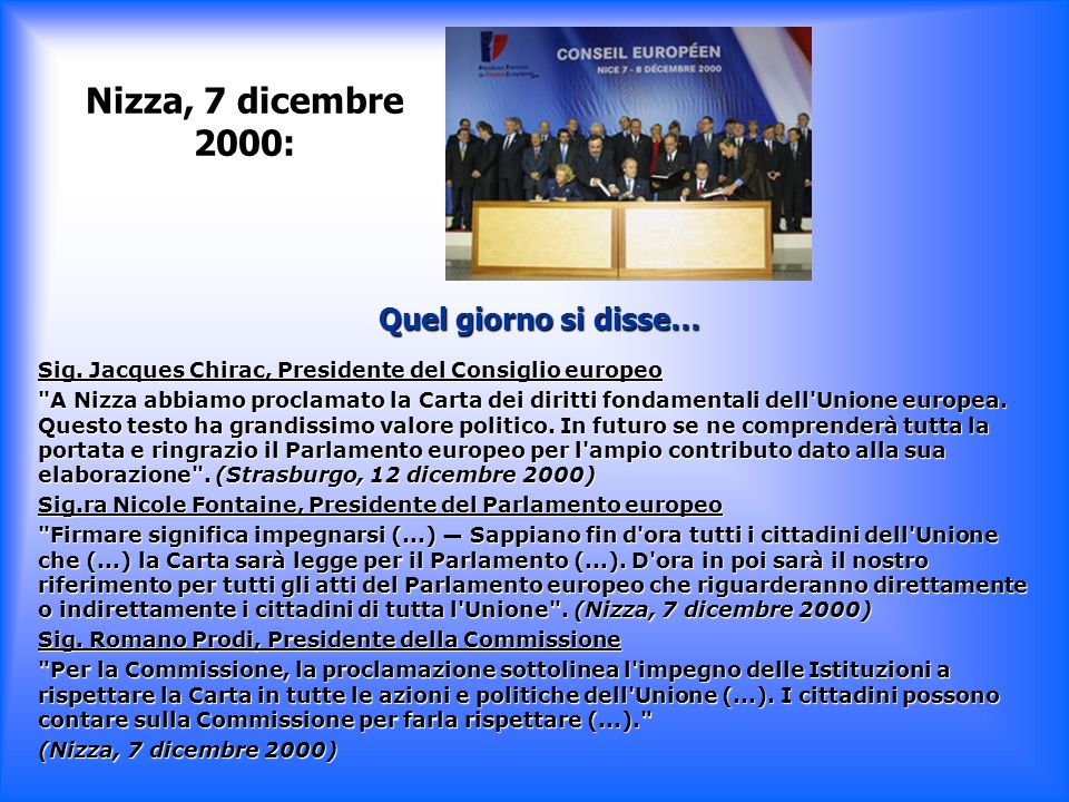 Nizza, 7 dicembre 2000: Quel giorno si disse…