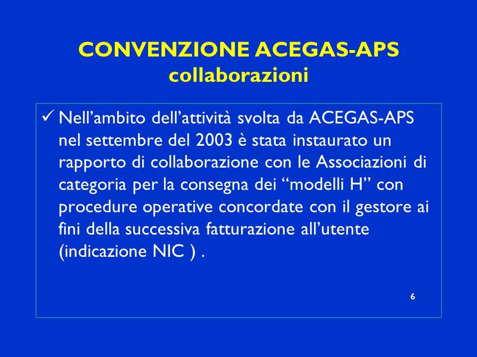CONVENZIONE ACEGAS-APS collaborazioni