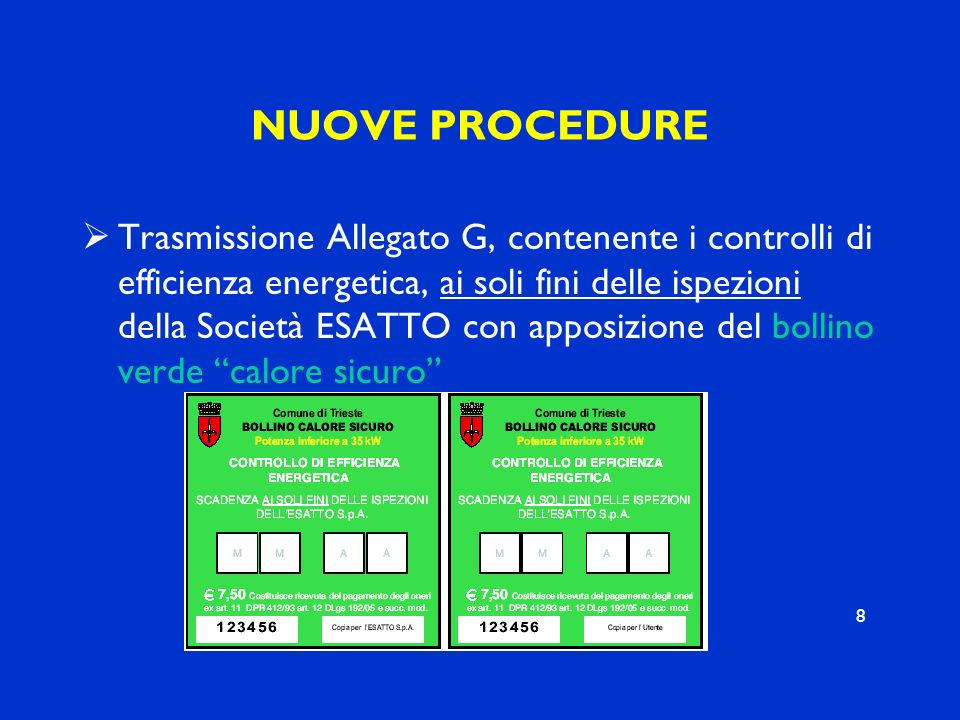 NUOVE PROCEDURE