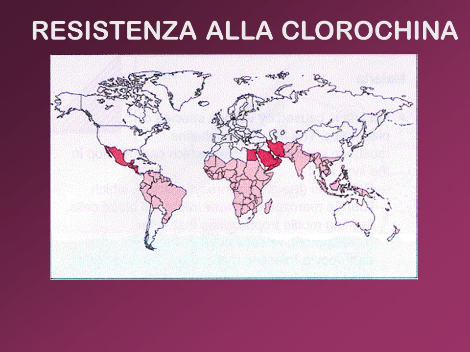 RESISTENZA ALLA CLOROCHINA