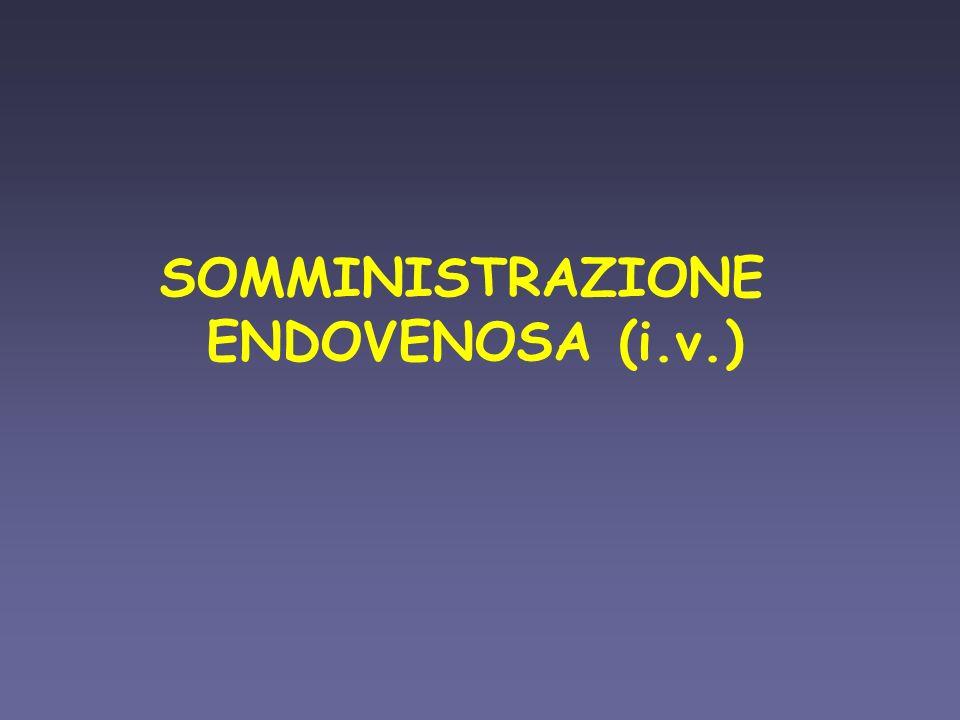 SOMMINISTRAZIONE ENDOVENOSA (i.v.)