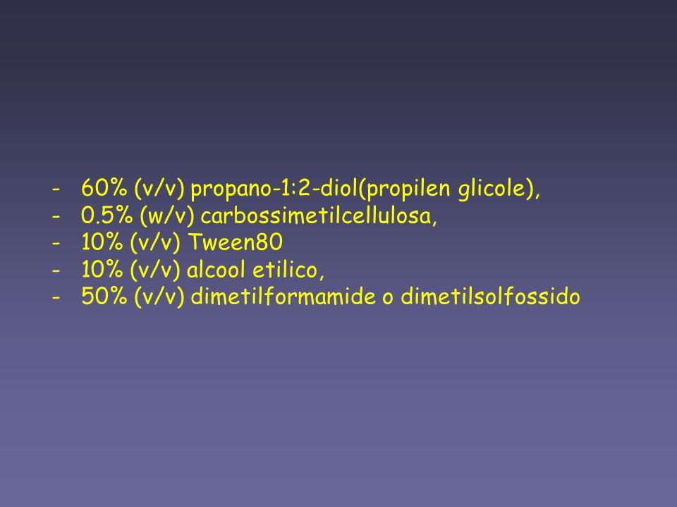 - 60% (v/v) propano-1:2-diol(propilen glicole), - 0