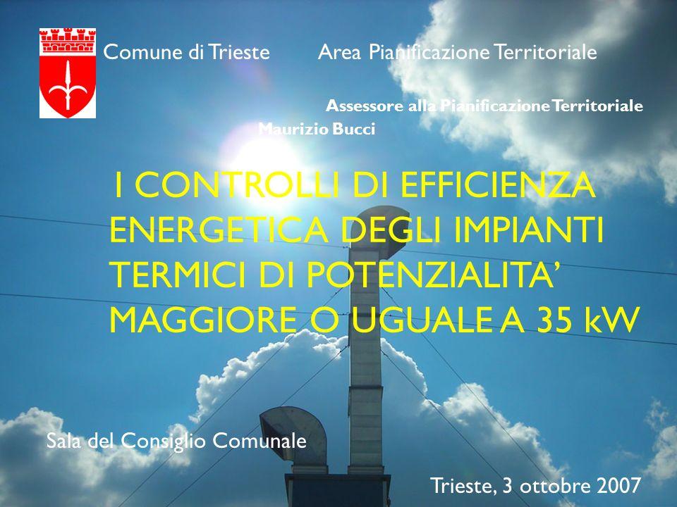 Comune di Trieste Area Pianificazione Territoriale