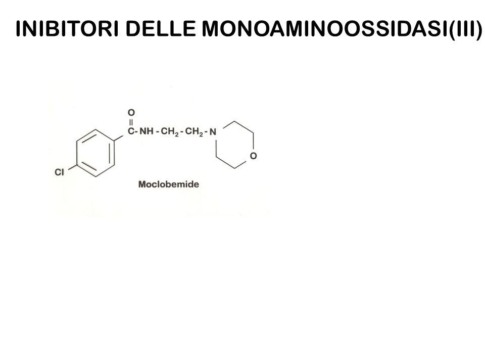 INIBITORI DELLE MONOAMINOOSSIDASI(III)
