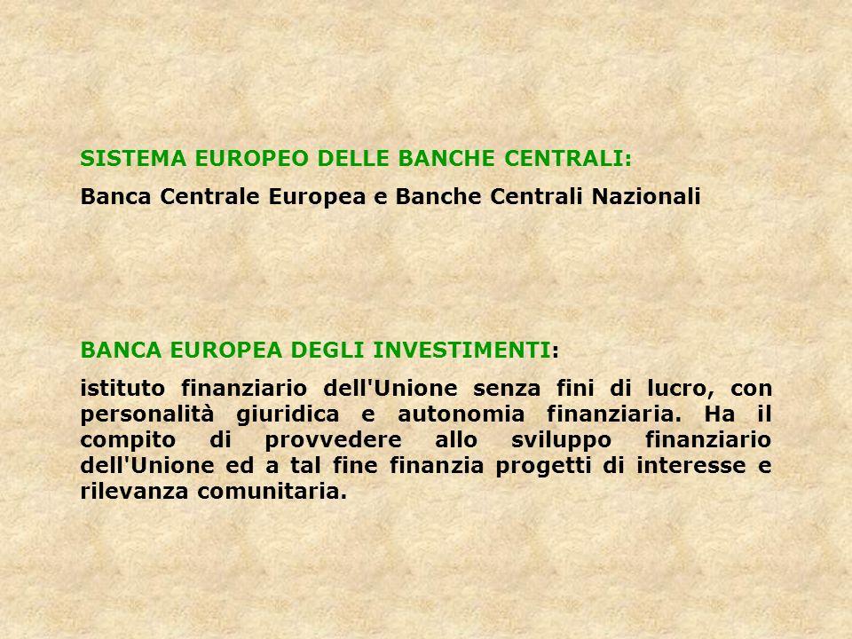 SISTEMA EUROPEO DELLE BANCHE CENTRALI: